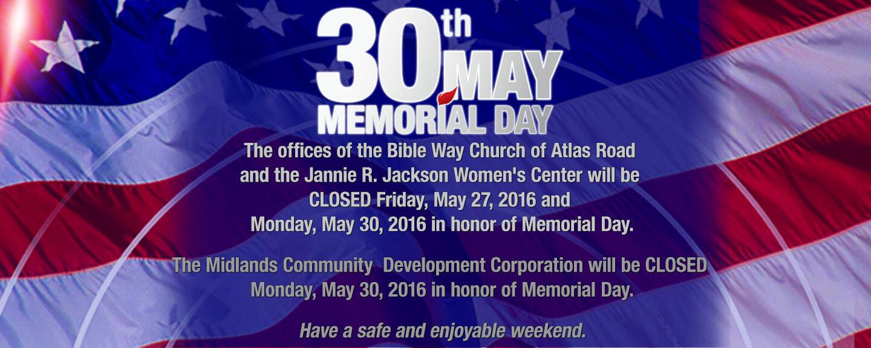2016 Memorial Day Weekend